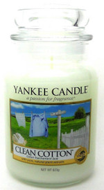 Yankee Candle CLEAN COTTON 22 oz./ 623 gr.Large Jar.Brand New