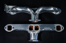 68 - 72 Corvette Ceramic Coated Ramhorn Manifold Replacement W/ Alternator Bracket ! 1 3/4' Tubing to a 2 1/2' Collector