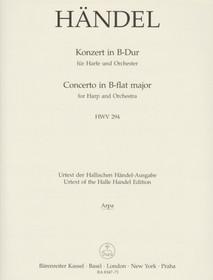Handel, Concerto in Bb (Barenreiter Ed.) (Harp Part)