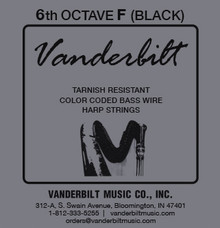 Vanderbilt Color-Coded Bass Wire: 6th octave F (Black)