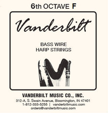 Vanderbilt Standard Bass Wire 6th octave F