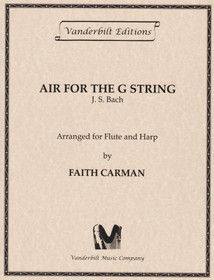 Bach JS/Carman: Air for the G String (fl/hp)