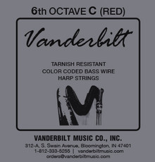 Vanderbilt Color-Coded Bass Wire: 6th octave C (Red)