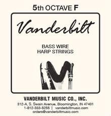 Vanderbilt Standard Bass Wire 5th octave F