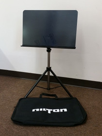 Nilton Music Stand (black) with Carrying Bag