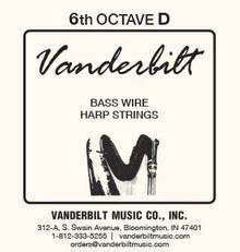 Vanderbilt Standard Bass Wire 6th octave D