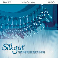 Silkgut Synthetic Lever String, 4th Octave G