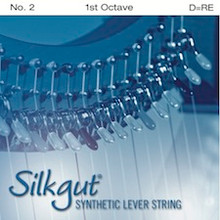 Silkgut Synthetic Lever String, 1st Octave D