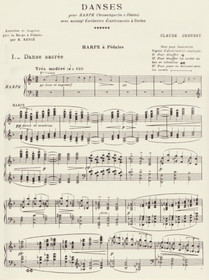 Debussy: Danses (harp part)