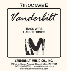 Vanderbilt Standard Bass Wire 7th octave E