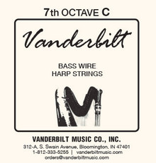 Vanderbilt Standard Bass Wire 7th octave C
