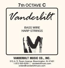 Vanderbilt Standard Bass Wire 7th octave C