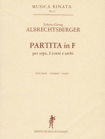 Albrecthsberger: Partita in F (parts)