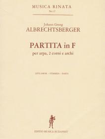 Albrecthsberger: Partita in F (parts)