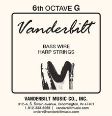 Vanderbilt Standard Bass Wire 6th octave G