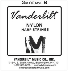 Vanderbilt Nylon, 3rd Octave B