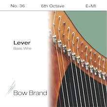 Lever Bass Wire, 6th Octave E