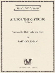 Bach JS/Carman: Air for the G String (fl/vc/hp)