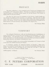Dittersdorf/Pillney: Concerto (Harp Part)