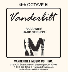 Vanderbilt Standard Bass Wire 6th octave E
