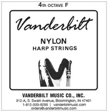 Vanderbilt Nylon, 4th Octave F (Black)