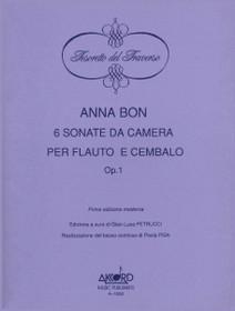 Anna Bon: 6 Sonate da Camera per Flauto e Cembalo