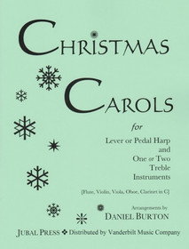 Burton, Daniel: Christmas Carols for Lever or Pedal Harp and One or Two Treble Instruments (Downloadable)