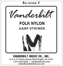 Vanderbilt Folk Nylon, 4th Octave F (Blue)