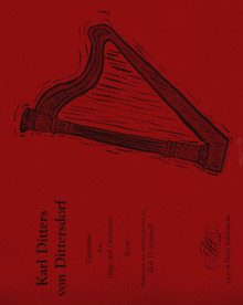 Dittersdorf: Concerto for Harp and Orchestra (arrangement for Harp and String Quartet) (Full Score + Parts) (Harp Part sold separately)