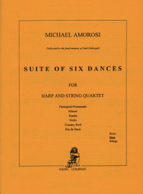 Amorosi, Suite of Six Dances for Harp and String Quartet (Harp Part)