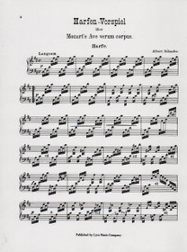 Mozart/Schaefer, Harfen-Vorspiel from Ave Verum Corpus for Violin, Cello and Harp