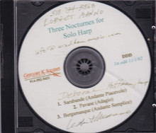 Three Nocturnes for Solo Harp 1st Edition (Signed by Performer)