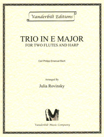 Bach, C.P.E./Rovinsky, Trio in E Major for Two Flutes and Harp