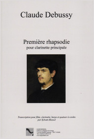 Debussy/Blassel, Premier rhapsodie (First Rhapsody) for Flute, Clarinet, Harp and String Quartet