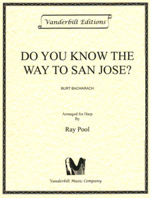 Bacharach/Pool: Do You Know the Way To San Jose? - For Harp Solo