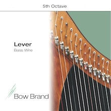 Lever Bass Wire, 7 Wire Set (5th Octave E through 5th Octave F)