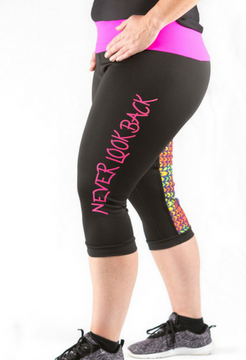 Retro - 3/4 Tights Pink