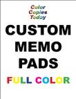 MEMO PADS, NOTEPADS, SCRATCH PADS!! 24 Custom Full Color  - $19.95