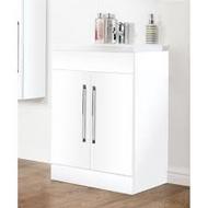 600mm Idon 2 Door Unit - gloss white