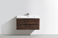 900mm Bali Chestnut Wall Mounted Cabinet  & Basin