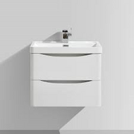 600mm Bali White Ash Wall Mounted Cabinet with Drawers & Basin