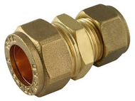 10mm x 8mm  Reducing Coupler Compression Brass Fitting