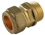 "10mm x 3/8"" Coupler C x MI Compression Fitting"