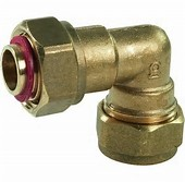 "15 x 1/2"" BENT TAP CONNECTOR COMPRESSION"
