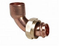 "22mm x 3/4"" BENT TAP CONNECTOR END FEED"