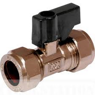 15mm Isolating Valve C x C Brass c/w Lever