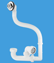 FSK10 50mm Seal Bath Trap with Flexible Overflow