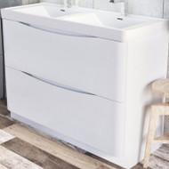 1200mm Envy Floor Standing Vanity Unit - gloss white