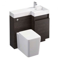 Dorset Vanity & WC unit - dark oak