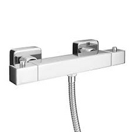 Square Thermostatic Shower WRAS